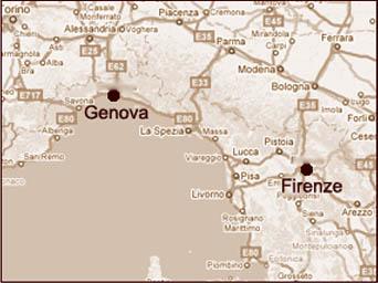 北イタリア地図