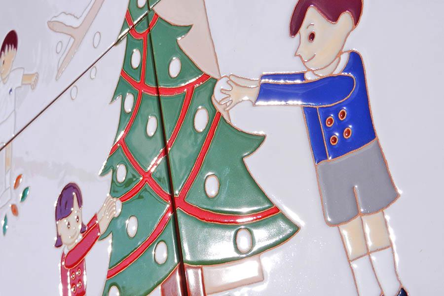 幼稚園の大型タイル看板