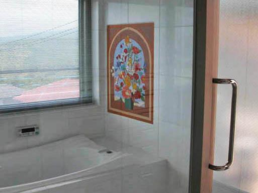 お風呂のタイルアート
