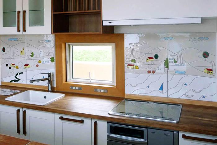 キッチンを明るくするタイル