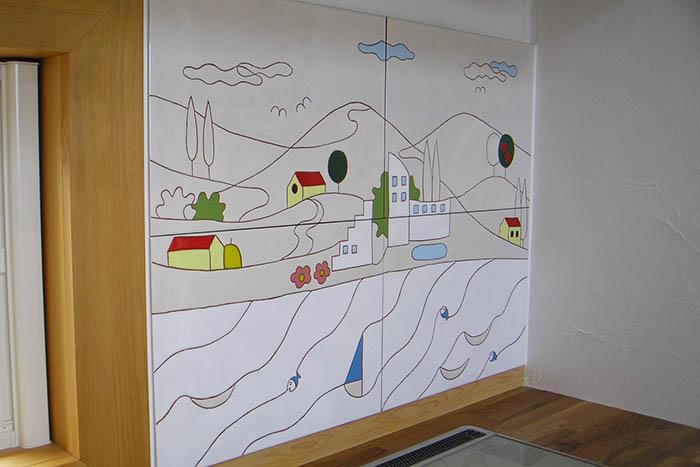 キッチンを装飾するオリジナルタイル