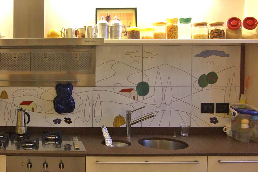キッチンを飾るタイルアート