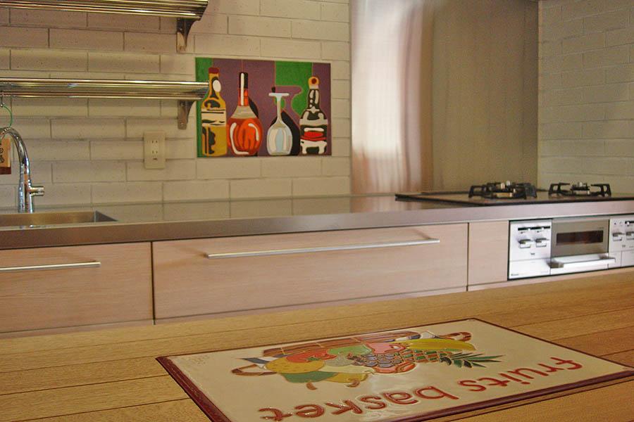 キッチンのタイルアート