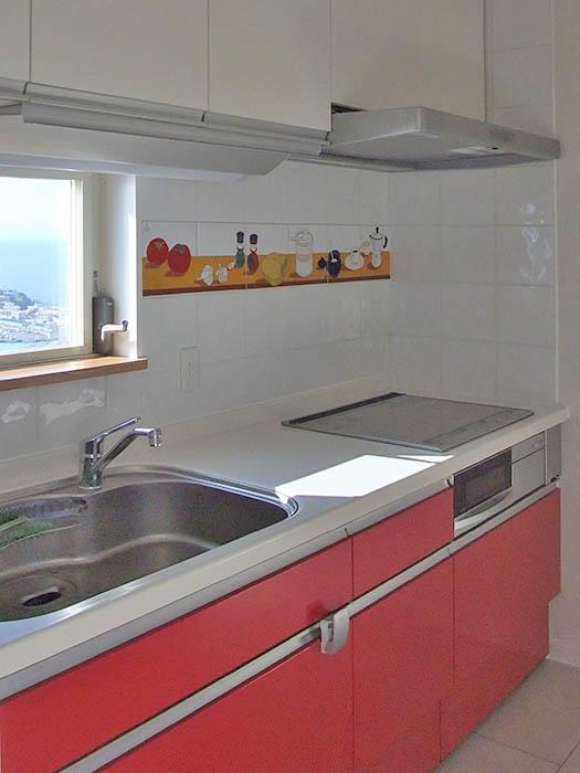 キッチンパネルのデザインタイル