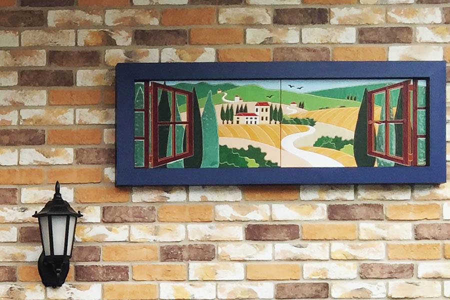 パティスリーの外壁装飾タイル