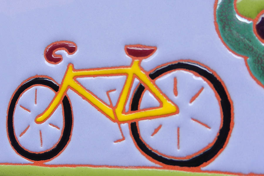 自転車の表札