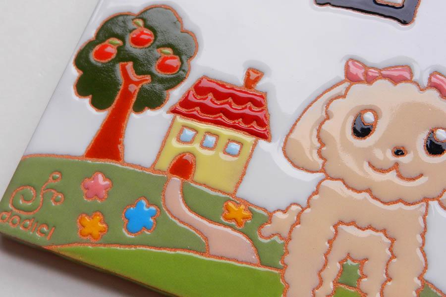 子どもの絵で作る表札