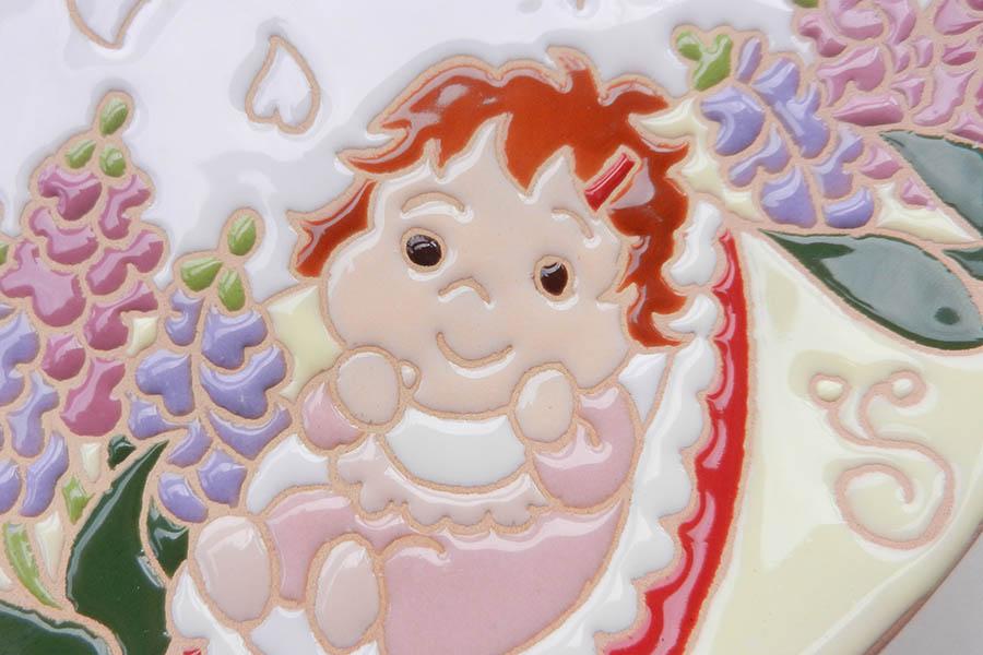 出産のお祝い絵皿