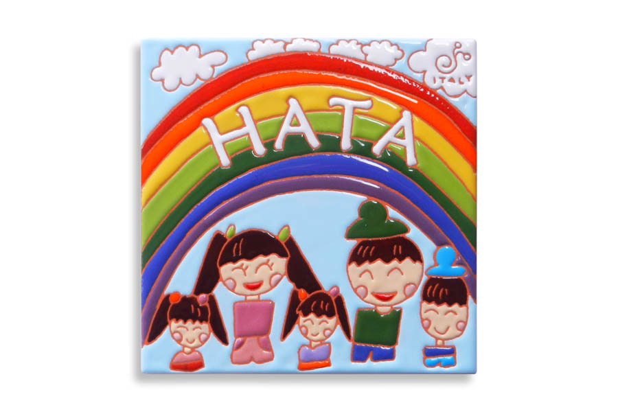 子供の絵で作るタイル表札