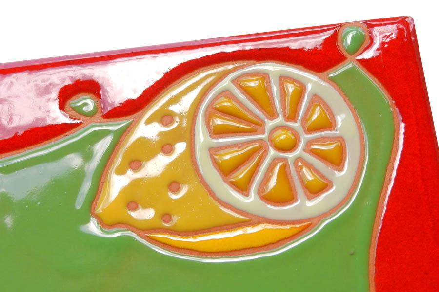 レモンのタイル表札