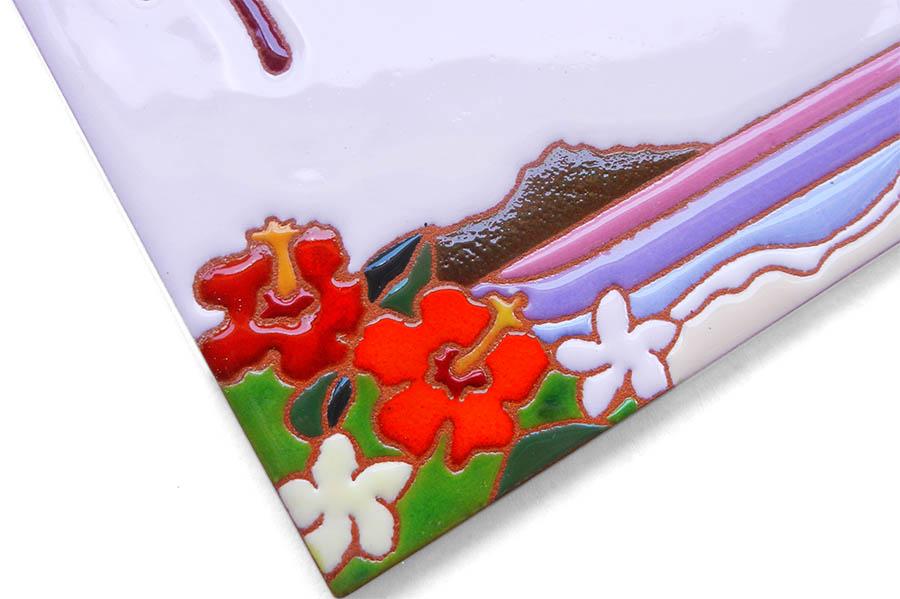 ハワイアンデザインの表札