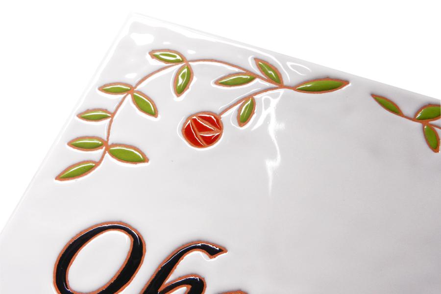 上品で可愛い丸い薔薇の表札
