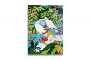 ジャングルの絵インテリアタイルアート