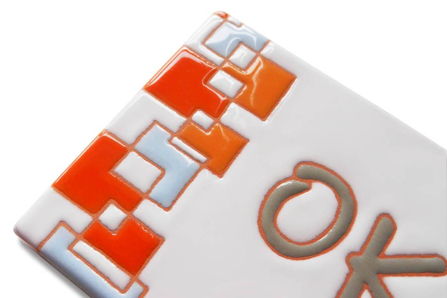 カラフルポップなキューブ表札