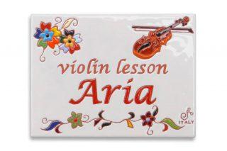 ヴァイオリン教室のタイル看板