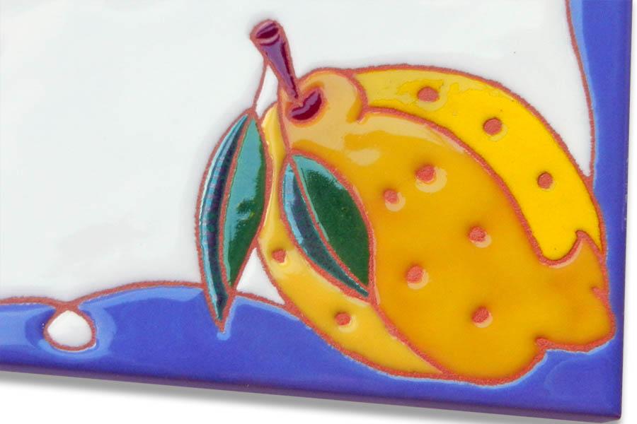 南欧気分のレモンタイル表札