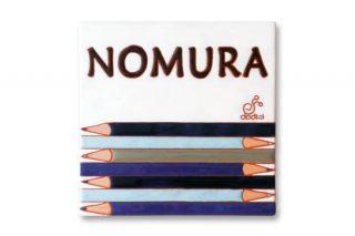 色鉛筆のタイル表札