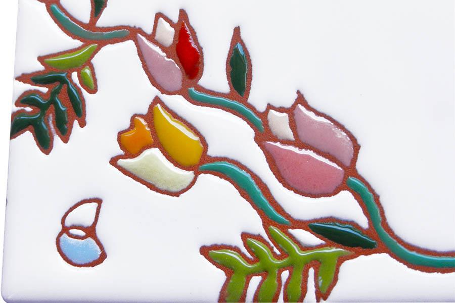 チューリップとフクロウのかわいい表札