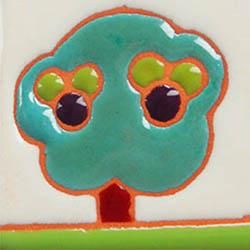 イタリアンタイル表札の緑