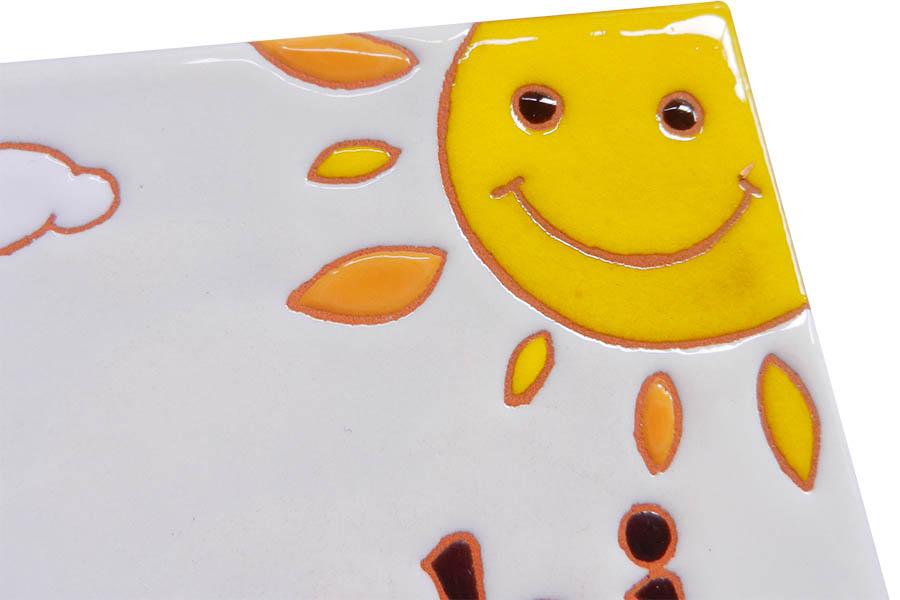 笑顔あふれるピアノ教室のタイル看板