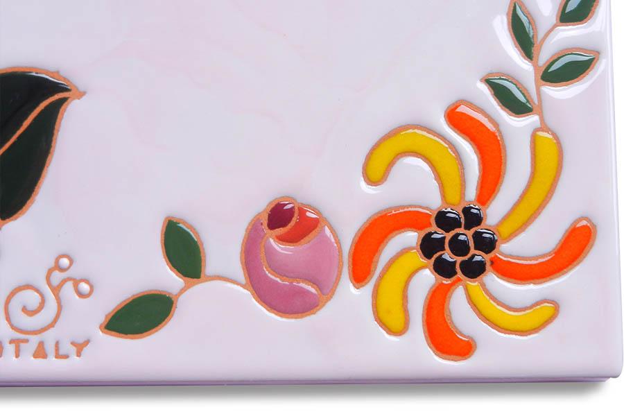 花と蝶のオシャレ表札