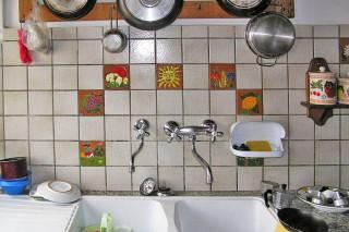 キッチンのアクセントタイル