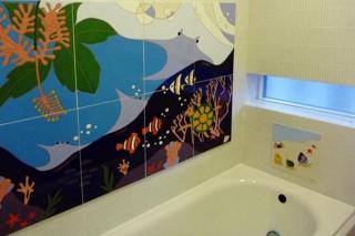 お風呂の装飾タイル