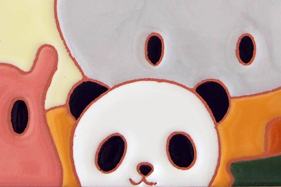 パンダのタイル表札