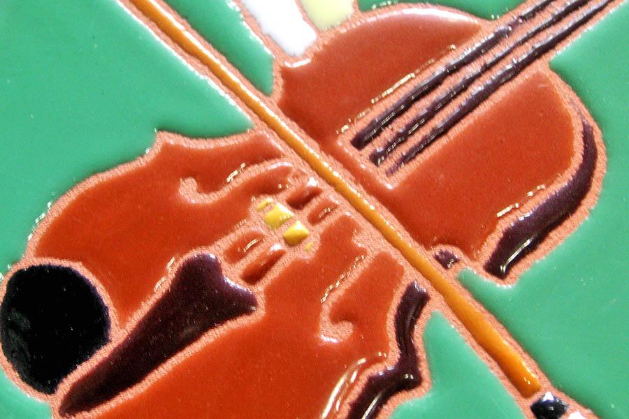 バイオリン教室のタイル看板