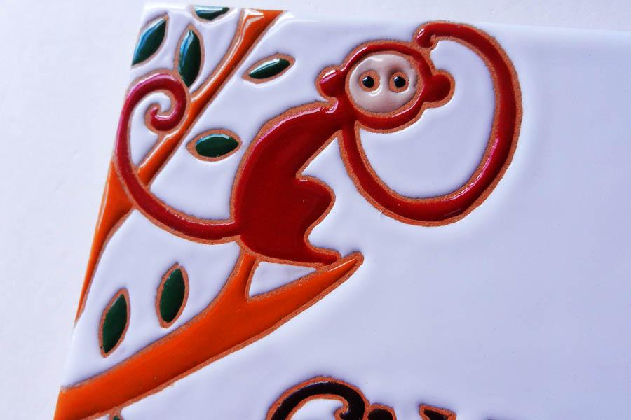 サルとゾウとキリンの表札