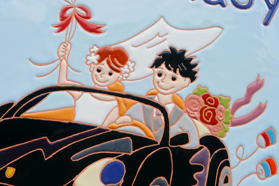 愛車を描いたウェルカムボード