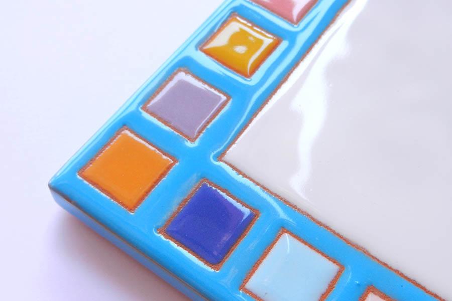 モザイク風のタイル表札