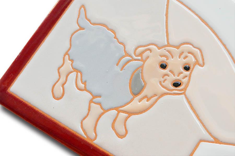 愛犬モチーフのウェルカムボード