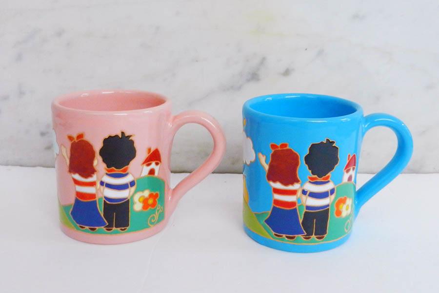 オリジナルデザインのマグカップ
