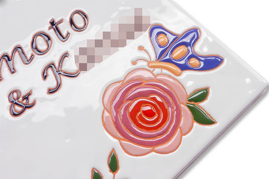 花と蝶のウェルカムボード