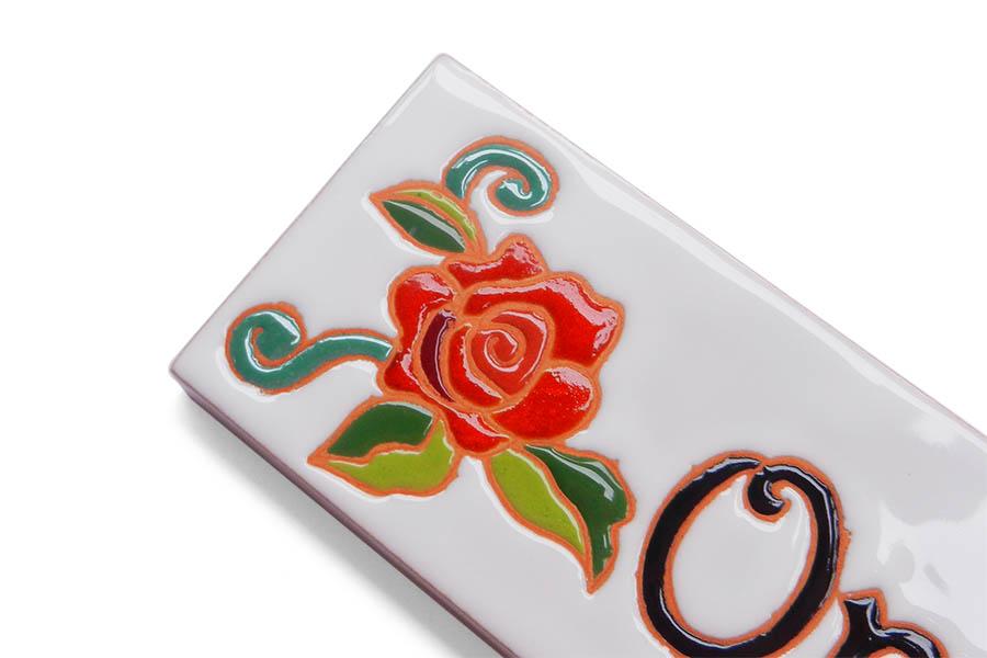 エレガントなバラのマンション表札