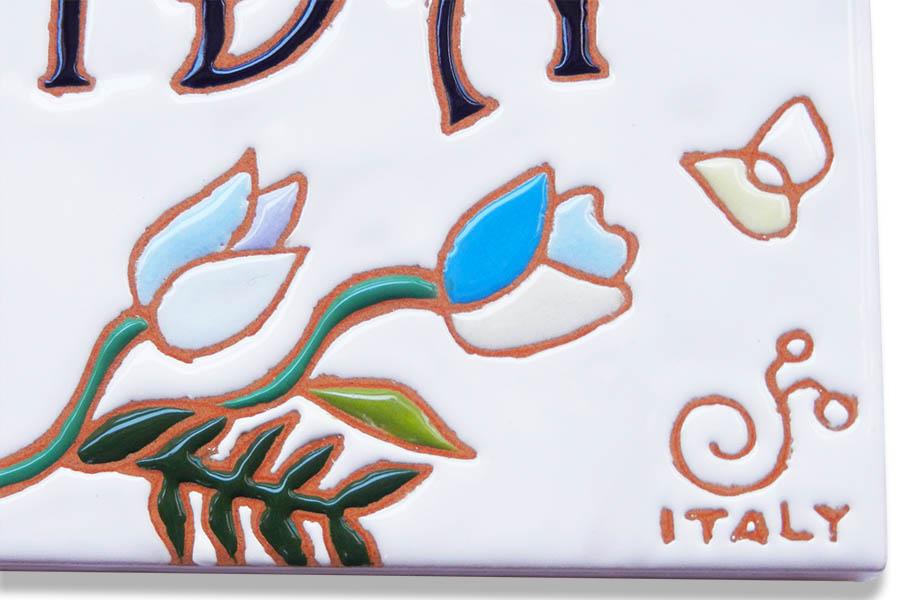 チューリップのタイル表札