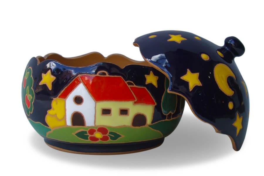 イタリア陶器の小物入れ