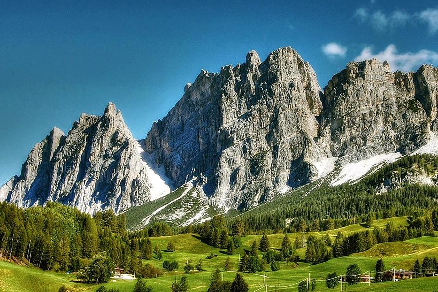 壮大な山の風景タイル表札