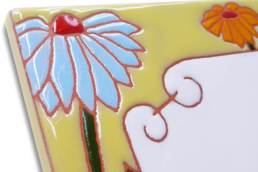 タンポポのタイル表札
